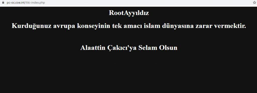 Root Ayyildiz Avrupa Konseyini Hackledi !