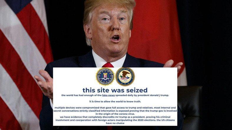 trumpin secimler icin olusturdugu kampanya site hacklendi