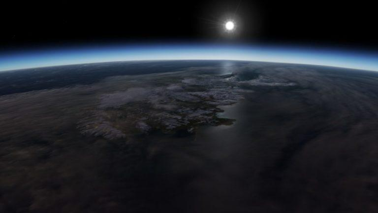 Uzaydan görüldüğü haliyle İzlanda (EarthView görüntülerini kullanarak)