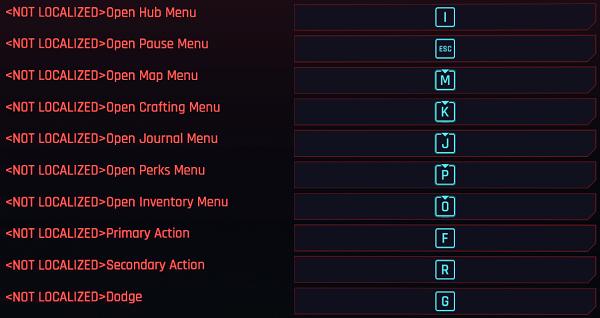 Cyberpunk key binding mods 1