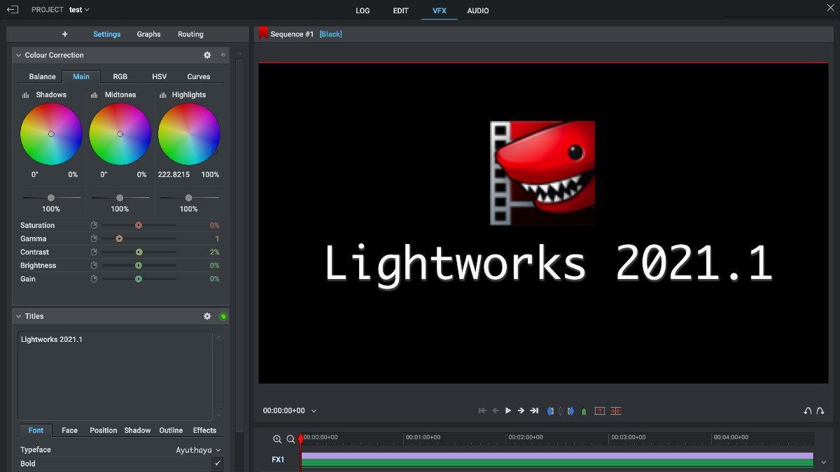 Lightworks 2021.1
