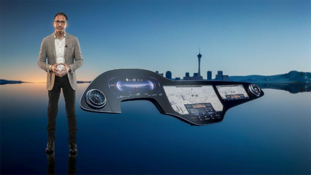 Mercedes benz MBUX Hyperscreen CES 2021 1 1024x576 1