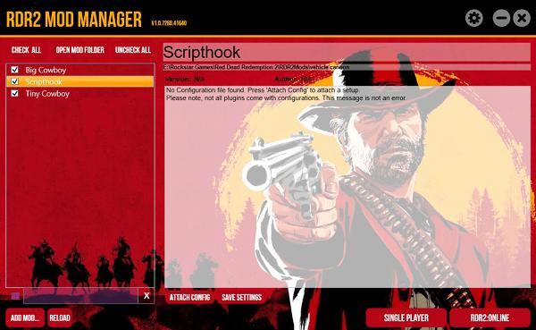 Red Dead Redemption 2 mod yöneticisi