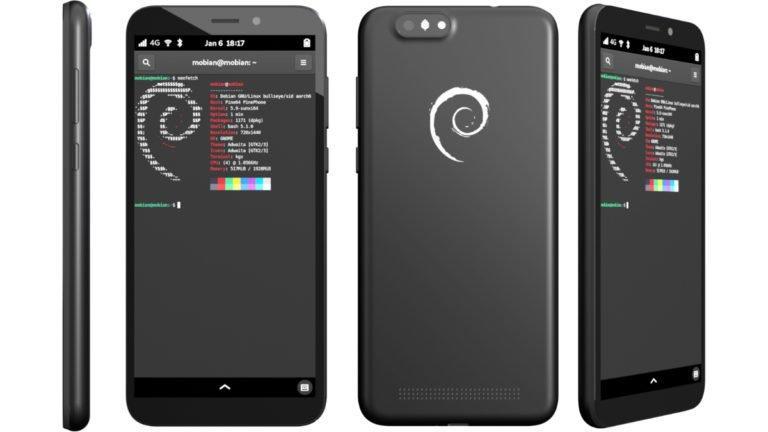 PinePhone Mobian Topluluk Sürümü