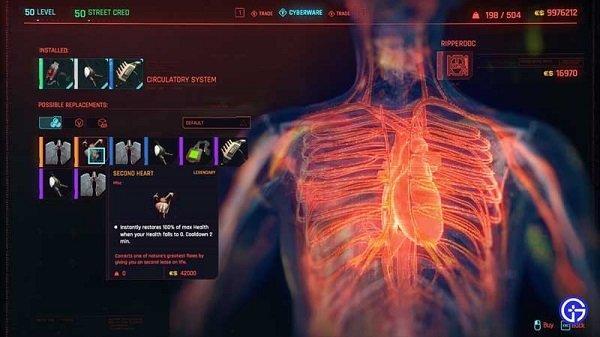 Cyberpunk 2077 ikinci kalp