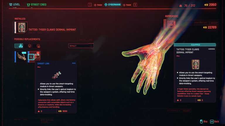 Cyberpunk 2077'de güçlendirilmiş tendonlar