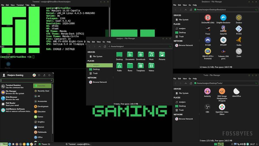 meet manjaro linux gaming 16 06 an arch linux based distro