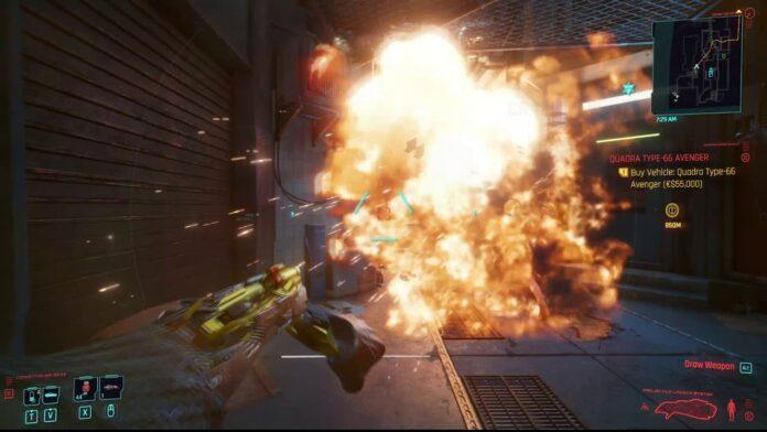 Cyberpunk 2077'de Mermi Fırlatma Sistemi