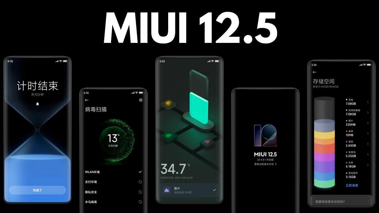 MIUI 12.5 özellikleri