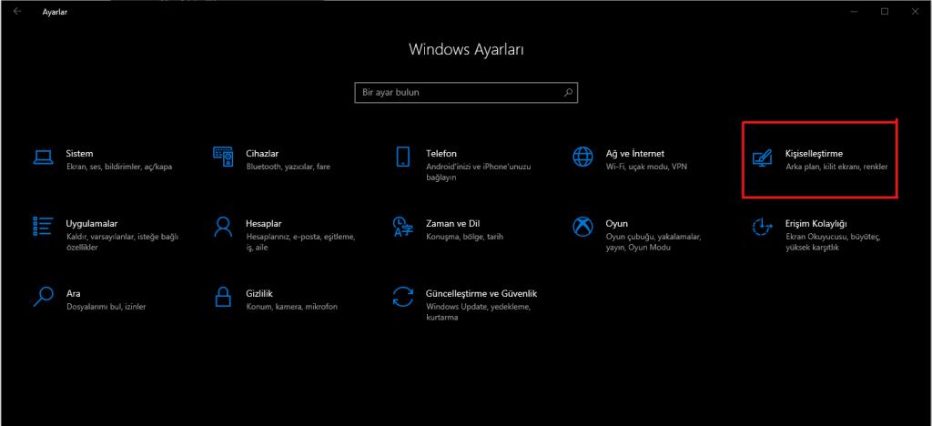 Windows 10 Karanlık Moda Nasıl Alınır ?