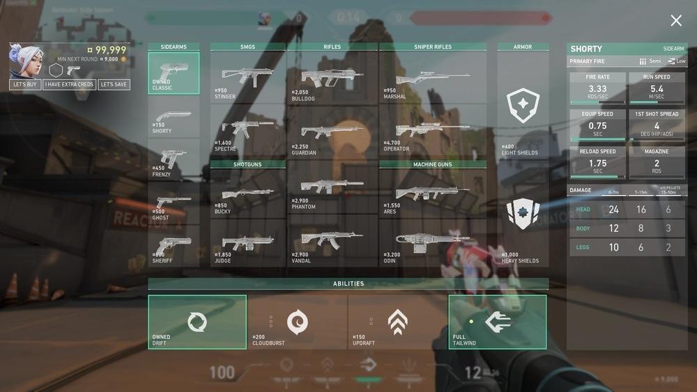 Valorant Episode 3 weapon prices