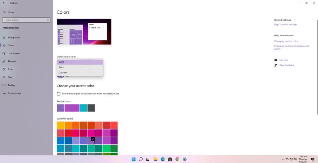 Windows 11 Karanlık Modu Açma