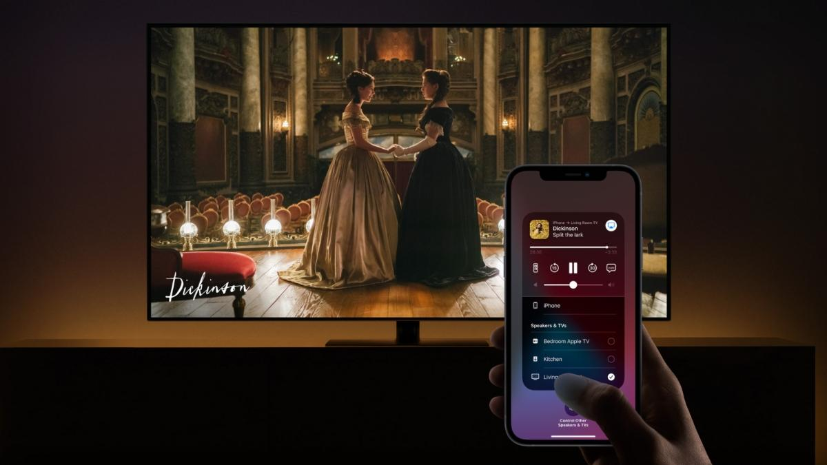Apple AirPlay connect iPhone to TV