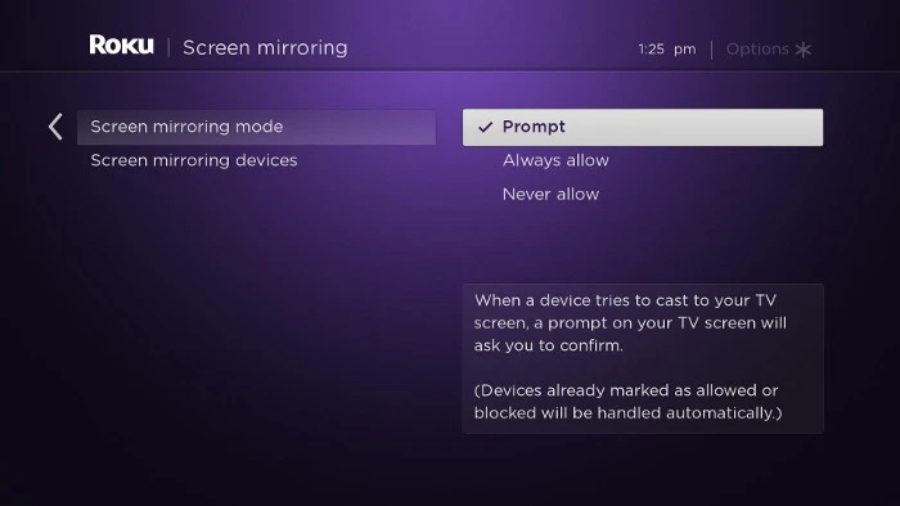 ROku Screen Mirroring Connect phone to tv