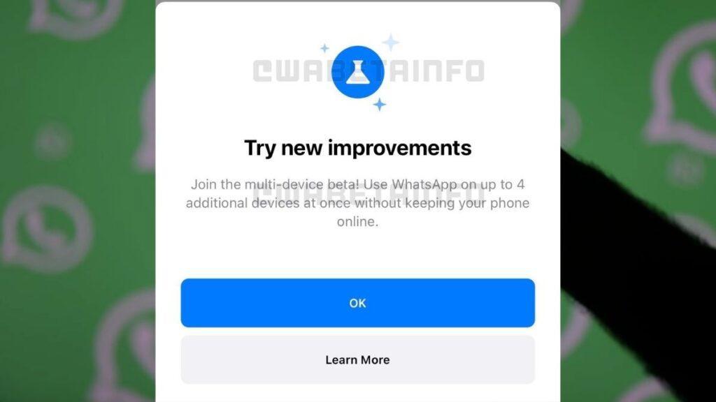 whatsapp multi device support beta